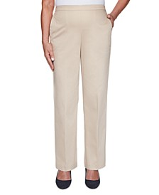 Petite Cottage Charm Pull-On Pants