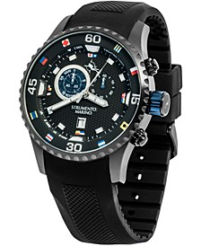 Men's Porto Cervo Professional Regatta Black Silicone Performance Timepiece Watch 47mm