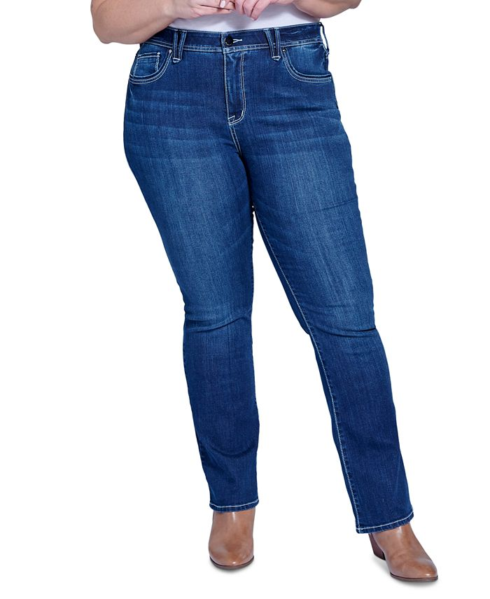 Seven7 Jeans - Trendy Plus Size High-Rise Ab-Solute Bootcut Jeans