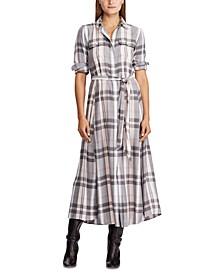 Plaid Long-Sleeve Dress