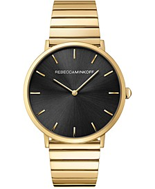 Women's Major Gold-Tone Stainless Steel Bracelet Watch 40mm