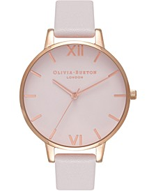 Women's Watercolour Pink Leather Strap Watch 34mm