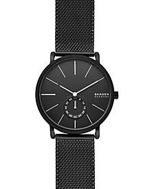 Men's Hagen Black Stainless Steel Mesh Bracelet Watch 40mm