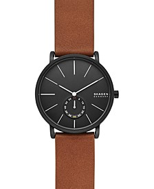 Men's Hagen Brown Leather Strap Watch 40mm