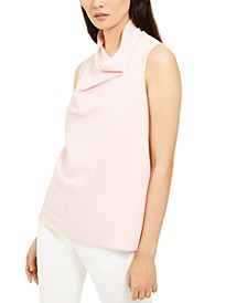 Cowl-Neck Sleeveless Top