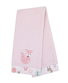 Sweet Forest Friends Appliqued Baby Blanket