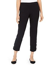 Tummy-Control Leopard Ladder-Hem Ankle Pants, Created for Macy's
