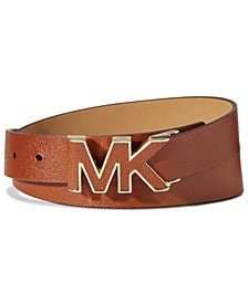Stingray-Embossed Logo-Buckle Belt
