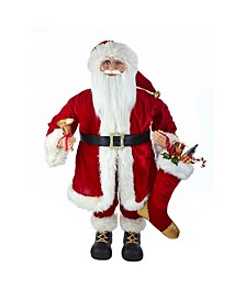 36-inch Kringle Klaus Red Standing Santa