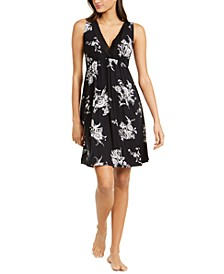 Floral-Print Lace-Trim Sleeveless Nightgown, Created For Macy's