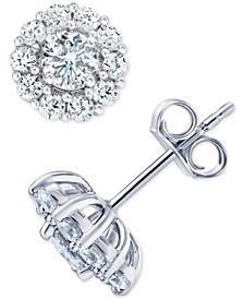 Certified Diamond Stud Earrings (2 ct. t.w.) in 18k White Gold