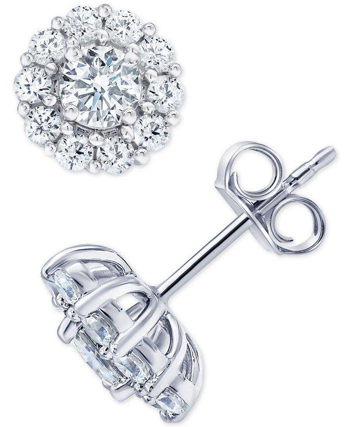 Marchesa - Diamond Stud Earrings (2 ct. t.w.) in 18k White Gold