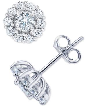 Diamond Stud Earrings (2 ct. t.w.) in 18k White Gold