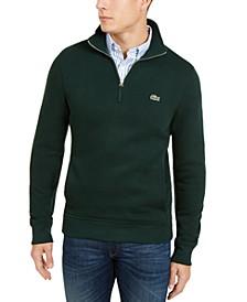 Men's French Rib Interlock Quarter-Zip Sweater