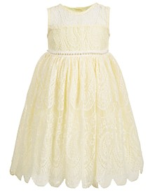 Toddler Girls Embellished Lace Dress