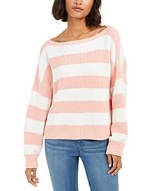Mozart Stripe Cotton Sweater