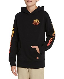 Flame Icon Logo Hoodie