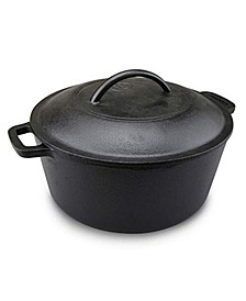 5 Quart Seasoned Cast Iron Dutch Oven