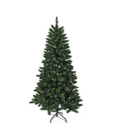 6-Foot Pre-Lit LED Green Pine Tree