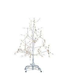 3-Foot White Birch Bark Warm White LED Fairy Lights Tree
