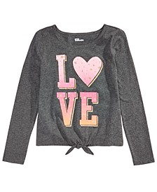 Big Girls Love Tie-Front T-Shirt, Created For Macy's