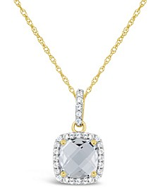 Created White Sapphire (1-3/4 ct. t.w.) and Created White Sapphire (1/6 ct. t.w.) Pendant Necklace in 10k Yellow Gold. Also Available in Created Ruby (1-3/4 ct. t.w.)