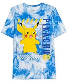Pokémon Big Boys Pikachu Scream Tie-Dye T-Shirt
