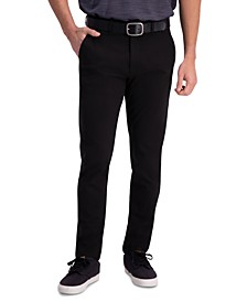 Men's Active Series Slim-Fit Stretch Solid Casual Pants