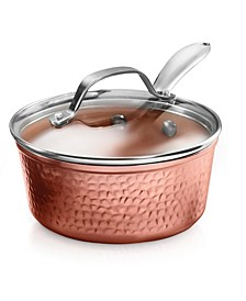 Hammered 2.5-Qt. Sauce Pot with Glass Lid