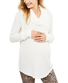 Maternity Cowl-Neck Top
