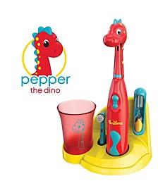 Kids Electric Toothbrush Dinosaur Set