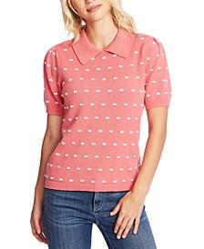 Collared Pom Pom Sweater