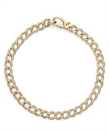 Diamond (1 ct. t.w.) Cuban Link Bracelet in 14K Yellow Gold