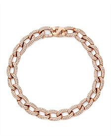 Diamond (2-1/6 ct. t.w.) Cuban Link Bracelet in 14K Rose Gold