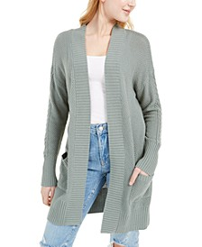 Juniors' Seed-Stitch Long Cardigan