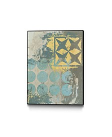 "24"" x 18"" Dots and Stars II Art Block Framed Canvas"