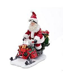 12-Inch Fabriché™ Snowmobile Santa