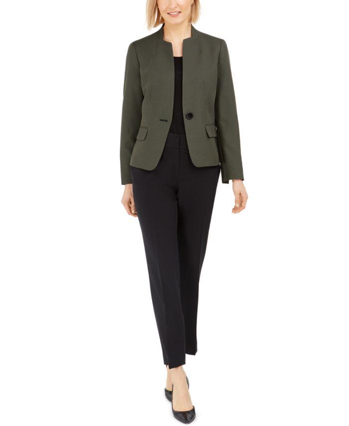 Le Suit One-Button Contrast-Color Pantsuit & Reviews - Wear to Work - Women - Macy's