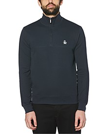 Men's Ribbed Quarter-Zip Sweater