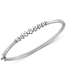 Lab Created Diamond Bangle Bracelet (5/8 ct. t.w.) in Sterling Silver