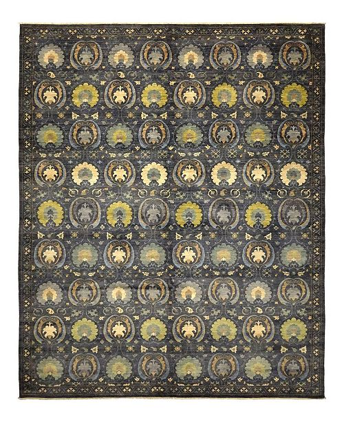 """Timeless Rug Designs CLOSEOUT! One of a Kind OOAK932 Charcoal 10'2"""" x 14'3"""" Area Rug"""