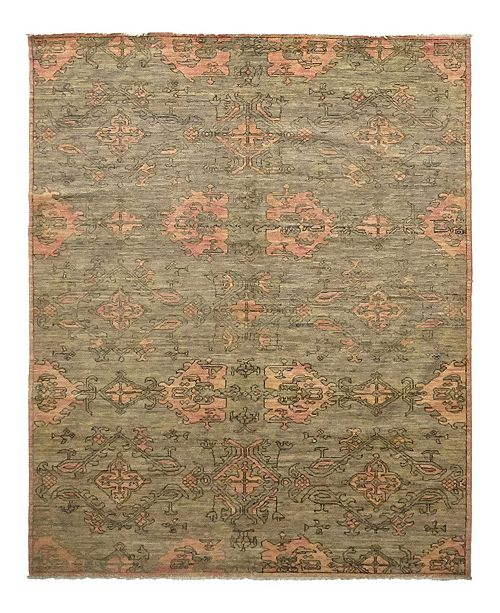 "Timeless Rug Designs CLOSEOUT! One of a Kind OOAK1009 Moss 6'3"" x 8'9"" Area Rug"