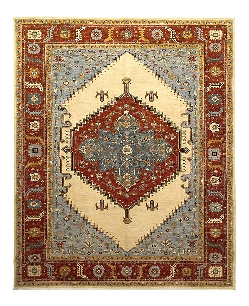 "Timeless Rug Designs CLOSEOUT! One of a Kind OOAK1095 Orange 10' x 13'4"" Area Rug"