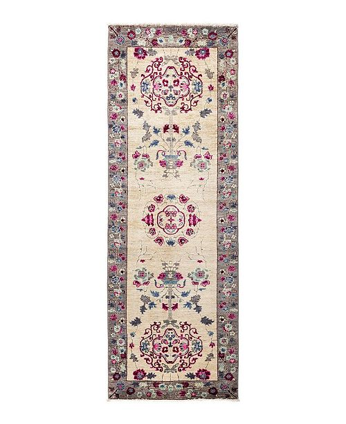 """Nourison CLOSEOUT! Timeless Rug Designs One of a Kind OOAK1708 Ivory 2'9"""" x 8'1"""" Runner Rug"""