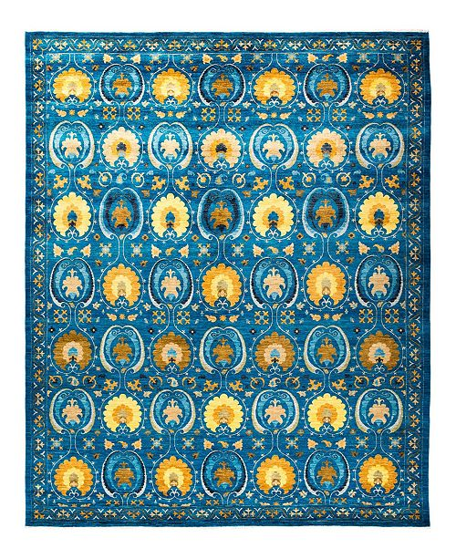 """Timeless Rug Designs CLOSEOUT! One of a Kind OOAK1798 Sapphire 9'3"""" x 12'6"""" Area Rug"""