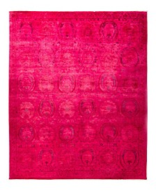 """CLOSEOUT! One of a Kind OOAK1901 Pink 8'2"""" x 9'10"""" Area Rug"""