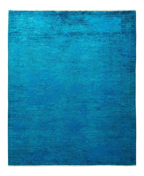 """Timeless Rug Designs CLOSEOUT! One of a Kind OOAK1931 Turquoise 4'2"""" x 6'3"""" Area Rug"""