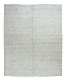 "Timeless Rug Designs One of a Kind OOAK2386 Silver 6'3"" x 9'2"" Area Rug"