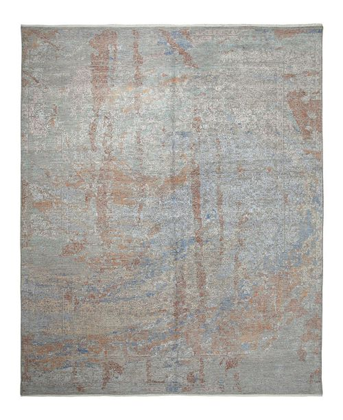 "Timeless Rug Designs One of a Kind OOAK2442 Gray 9' x 12'3"" Area Rug"