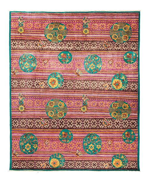 """Timeless Rug Designs CLOSEOUT! One of a Kind OOAK2892 Red 8'1"""" x 10'3"""" Area Rug"""